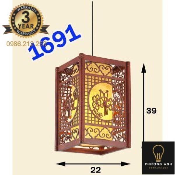 Bảng giá Đèn Lồng Gỗ Tự Nhiên mã 1691 Phù Hợp Trang Trí Không Gian Nhà Gỗ , Nhà Cổ, Phòng Thờ, Nhà Hàng - Đèn Phương Anh