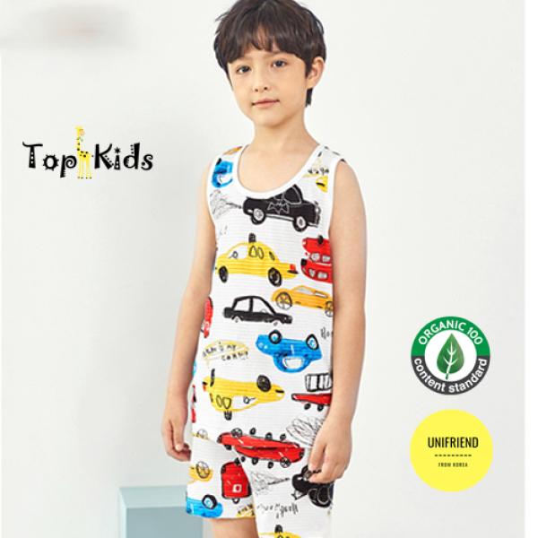 Nơi bán Bộ đồ bé trai ô tô - Thương hiệu Unifrend Hàn Quốc - 100% Cotton , Topkid, đồ bộ, đồ ngủ bé trai