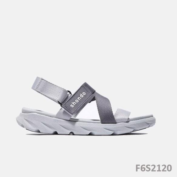 Giày Sandal Shondo Quai Chéo xám Ombre xám đậm  F6S2120 giá rẻ