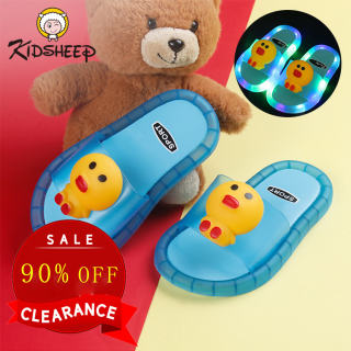 Kidsheep Giày trẻ em Dép cho bé Giày Dép Trẻ Em Dép hình hoạt hình dễ thương cho bé gái, đi trong nhà, không trơn trượt, cỡ 25-31