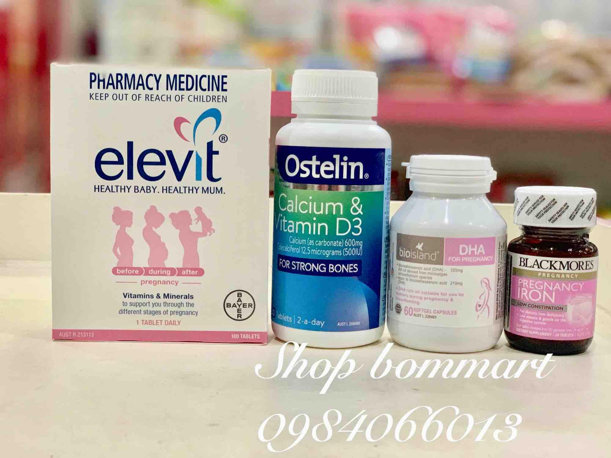Combo bộ sản phẩm vitamin tổng hợp chăm sóc thai kì cho bà bầu úc