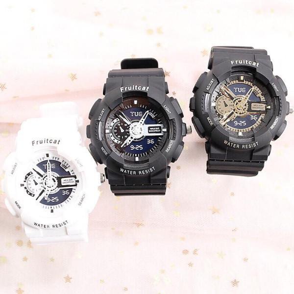 Nơi bán Đồng hồ thời trang nam nữ Fruitcat chạy kim giả điện tử cá tính chất liệu nhựa chống xước tốt BL79