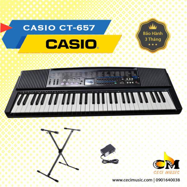 Đàn Organ Casio CT657 61 phím, hàng nội địa Nhật Bản, like new 90%, 100 tones, thích hợp cho người mới học, trẻ nhỏ
