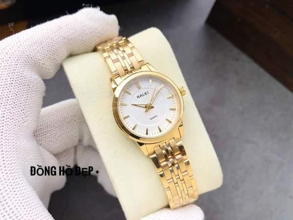 đồng hồ nữ mặt trắng sang trọng chống nước chống xước HFT01 bán chạy