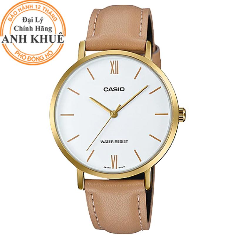 Đồng hồ nữ dây da Casio Anh Khuê LTP-VT01GL-7BUDF