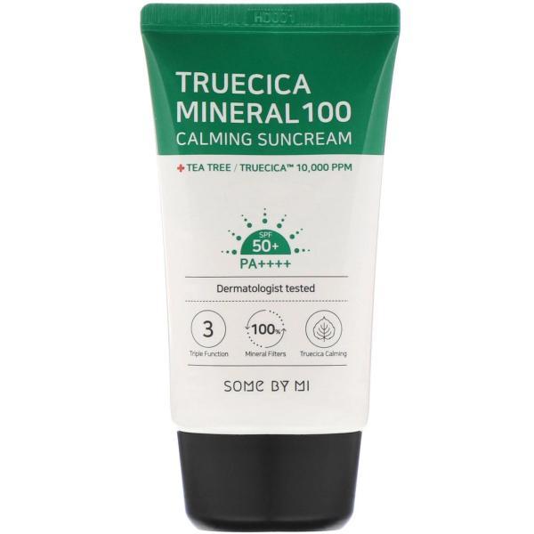 Kem Chống Nắng Cho Da Mụn Some By Mi Truecica Mineral 100 Calming Suncream 50ml