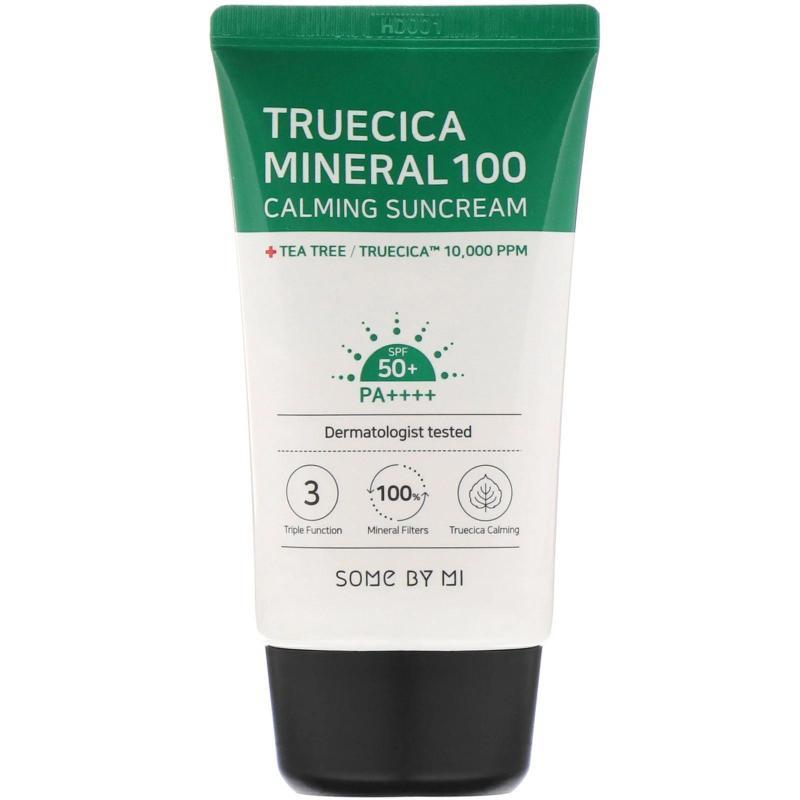 Kem Chống Nắng Cho Da Mụn Some By Mi Truecica Mineral 100 Calming Suncream 50ml nhập khẩu