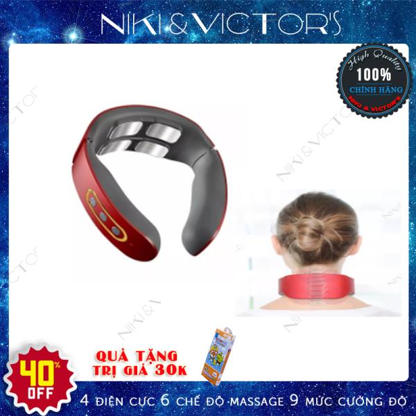 Máy massage vai cổ gáy xung điện 4 điện cực 6 chế độ 9 điểm mạnh