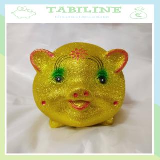 Lợn đất tiết kiệm đựng tiền size NHỠ VIP KIM TUYẾN VÀNG cute đẹp giá rẻ TABILINE LD11 thumbnail