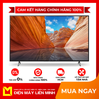 Smart Tivi 4K Sony KD-75X80J 75 inch Android TVMới 2021 Hệ điều hành,giao diện Android 10,Các ứng dụng sẵn có YouTube,Netflix,Web Browser,Remote thông minh tìm kiếm bằng giọng nói,Điều khiển tivi bằng điện thoại, 4 cổng HDMI thumbnail