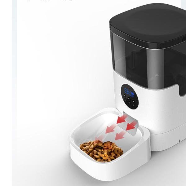 Máy cho mèo ăn tự động cài đặt giờ ăn và lượng thức ănPFD-01- Máy cho chó ăn tự động, bình chứa 4 lit