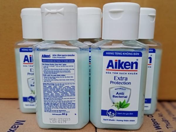 5 Chai Nước rửa tay kháng khuẩn aiken 60g cao cấp