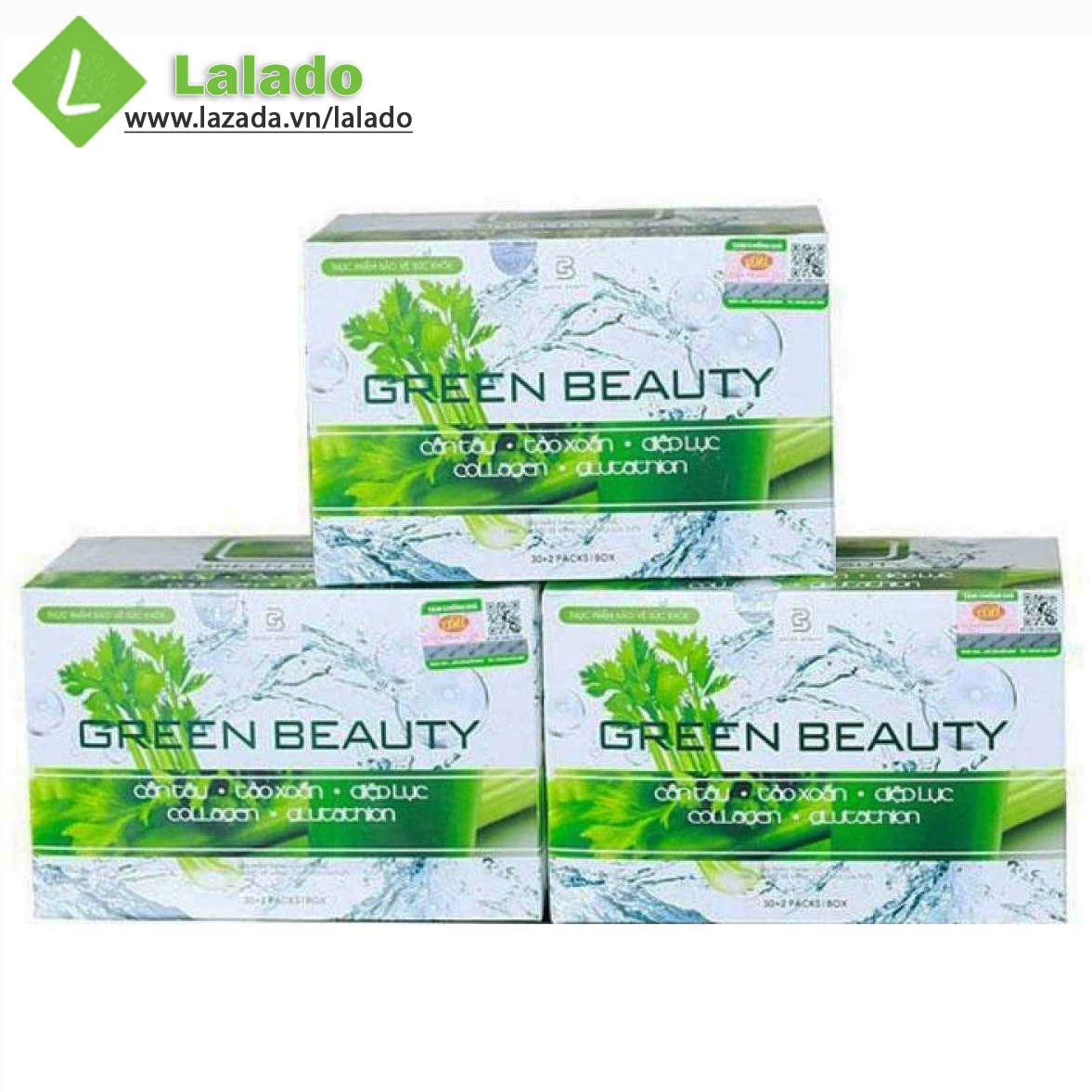 Nước ép Cần Tây Green Beauty Hộp 32 Gói Giá Rất Tiết Kiệm
