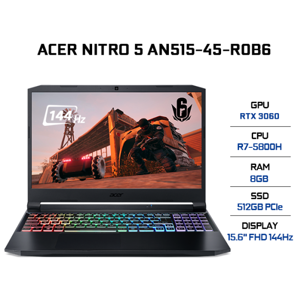 Bảng giá Laptop Acer Nitro 5 AN515-45-R0B6 (R7-5800H | 8GB | 512GB | VGA RTX 3060 6GB | 15.6 FHD 144Hz | Win 10) Phong Vũ