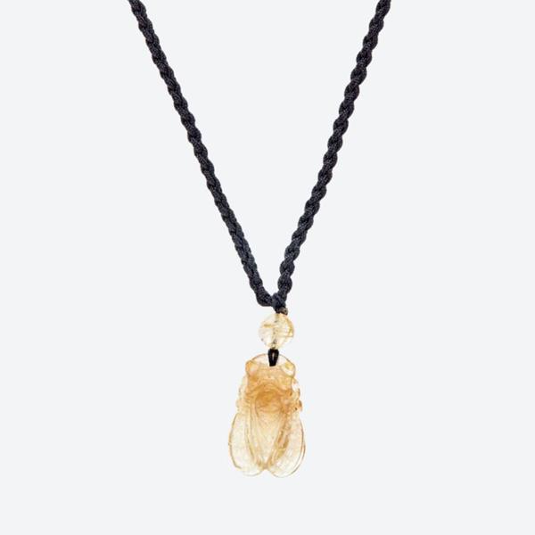 Mặt dây chuyền đá thạch anh tóc vàng thiền mệnh thủy,kim (màu vàng) - Ngọc Quý Gemstones