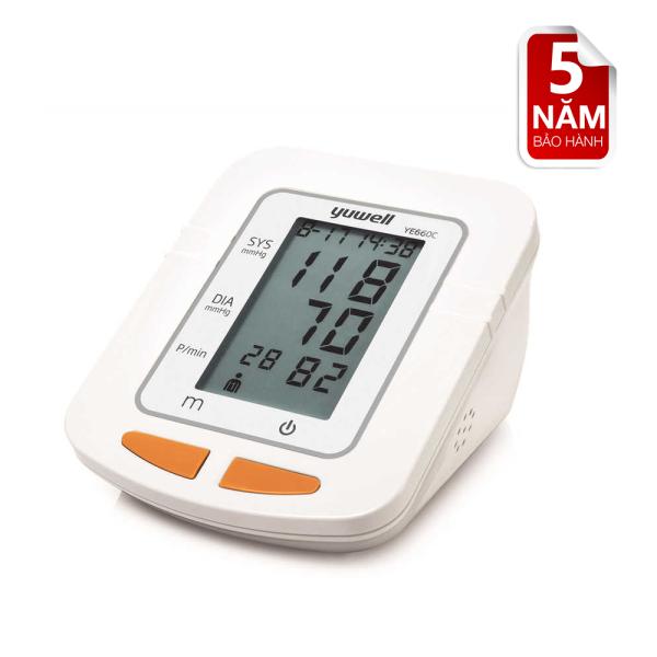 Máy đo huyết áp điện tử bắp tay chính hãng YUWELL 660C bán chạy