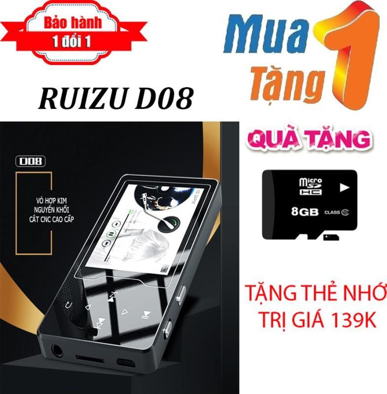 Máy nghe nhạc MP4 màn hình HD 2.4 inches Ruizu D08  + Tặng thẻ nhớ 8g Class 10 - Máy nghe nhạc Lossless chất lượng cao - máy nghe nhạc giá rẻ
