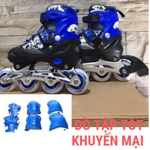 Giá bán Combo giày trượt patin trẻ em cao cấp Longfeng 906 và bộ bảo vệ chân, tay, gối HOÀN HẢO