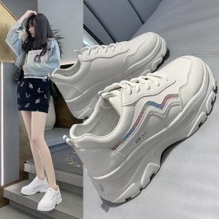 [HOT TREND 2021]Giày Thể Thao Nữ Full box, Sneaker Nữ Độn Đế, Da Mềm Dáng Ulzzang Hàn Quốc- Lebi Store thumbnail