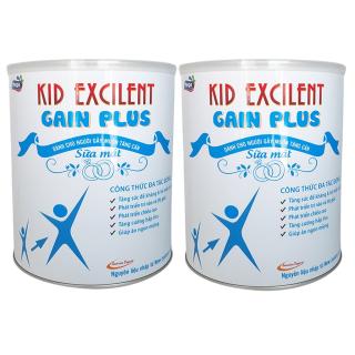 [Combo 2 lon] Sữa mát tăng cân cho trẻ suy dinh dưỡng Kid Excilent lon 900g thumbnail