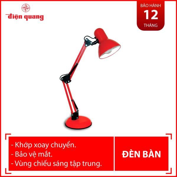 Đèn bàn bảo vệ thị lực Điện Quang ĐQ DKL14 R BW (màu đỏ, bóng led warmwhite)