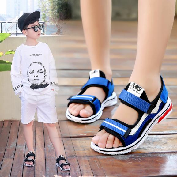 Dép sandal bé trai phong cách thể thao cho bé từ 2- 15 tuôi D11 giá rẻ