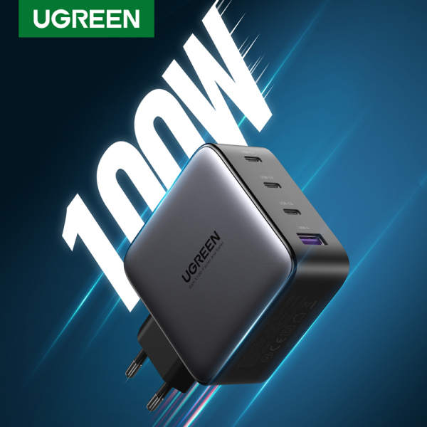 UGREEN USB Charger 100W GaN Charger for Macbook tablet Fast Charging for iPhone Xiaomi USB Type C PD Charge for iPhone 12 11