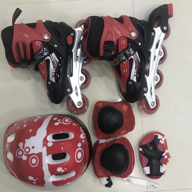 Phân phối Combo Giày Trượt Patin 3in1 Màu Đỏ