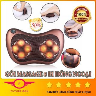 Gối Matxa 8 bi hồng ngoại Nhật Bản LOẠI TỐT, Gối masage hồng ngoại Kazuko, Gối massage hồng ngoại 8 bi xoay 2 chiều. Giảm Đau Mỏi Vai Gáy, Toàn Thân. Tặng Kèm Dây Chuyển Đổi Nguồn trên Ô tô. thumbnail