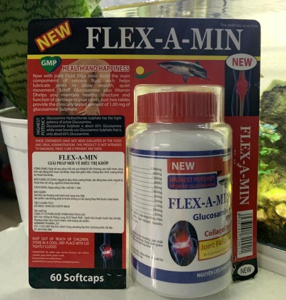 Flex Amin Giúp phục hồi, tái tạo mô sụn khớp, tăng tiết dịch lọ 60 viên
