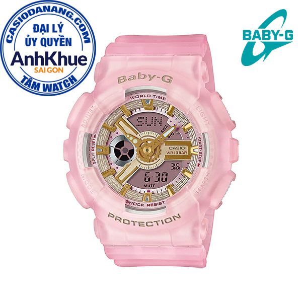 Đồng hồ nữ dây nhựa Casio Baby-G chính hãng Anh Khuê BA-110SC-4ADR (43mm)