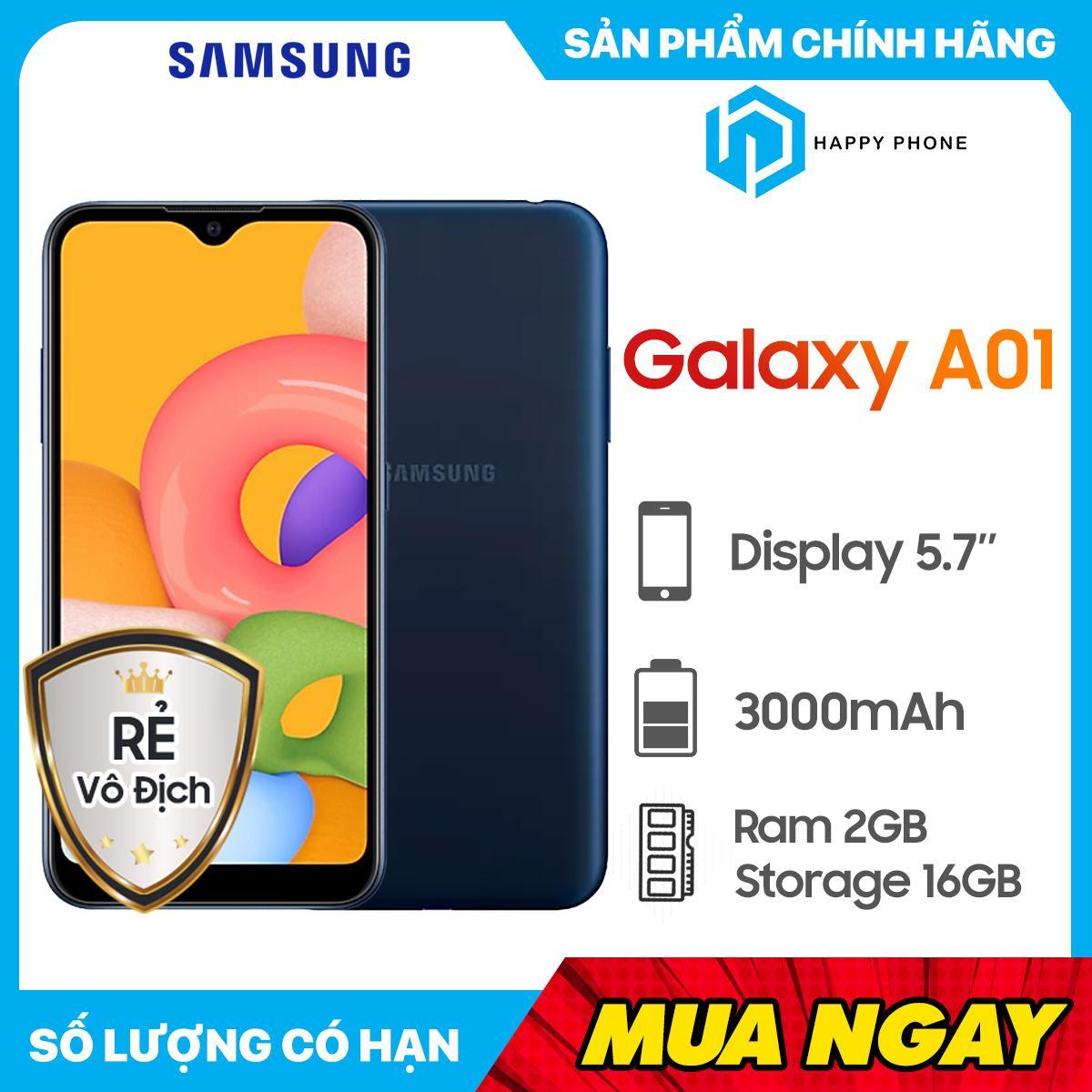 Điện Thoại Samsung Galaxy A01 ROM 16GB RAM 2GB - Hàng Mới 100%, Nguyên Seal, Bảo Hành 12 Tháng [Điện Thoại Giá Rẻ] Siêu Khuyến Mãi