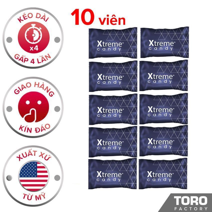[Hiệu quả hơn 40% kẹo Hamer] Bộ 10 (10 viên) Kẹo Sâm (Mỹ) Ultimate Xtreme Flavor - Kéo dài thời gian quan hệ,trị xuất tinh sớm, tăng cường sức khỏe cho nam giới - 10 viên - [TORO FACTORY] cao cấp