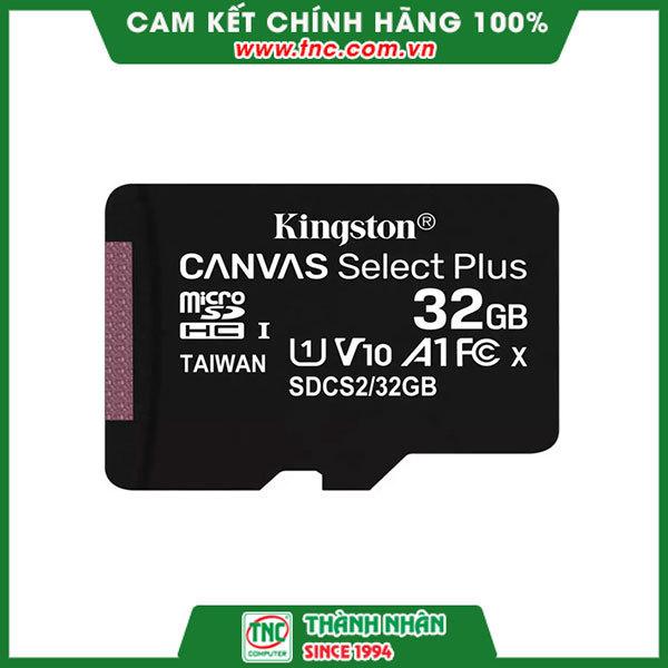 Thẻ nhớ 32GB MicroSDHC Kingston Canvas Select SDCS2/32GB (No Adapter)