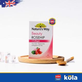 Viên uống collagen tinh dầu tầm xuân Nature s Way Beauty Rosehip & Collagen 60 Viên thumbnail