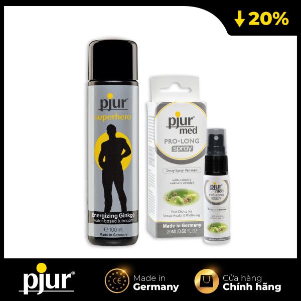 Combo Chất bôi trơn kéo dài: pjur SUPERHERO GLIDE & pjur Med PRO-LONG Spray
