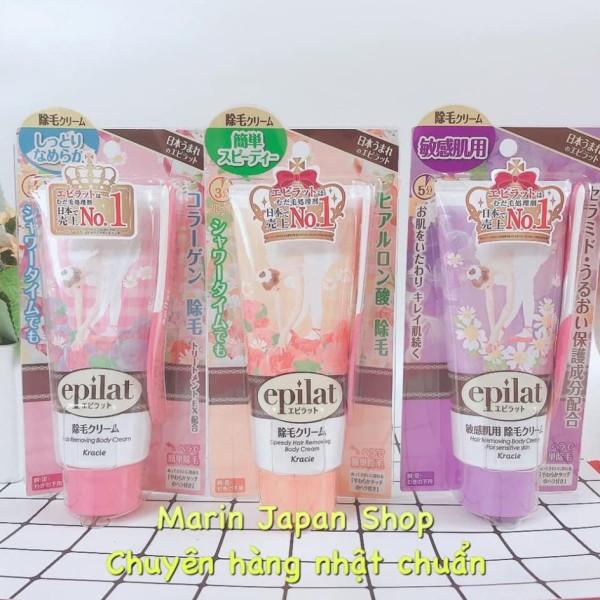 (SALE) Kem tẩy lông body, lông chân, tay, nách, bikini Epilat Kracie  Nhật bản đủ 3 màu