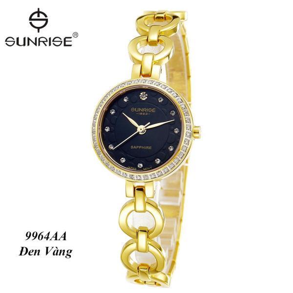 [HCM]Đồng hồ nữ siêu mỏng Sunrise 9964AA đính đá Fullbox kính Sapphire chống xước