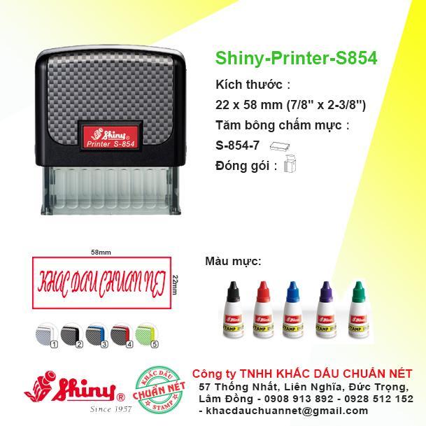 Khắc dấu Mã số thuế &Thông Tin Doanh Nghiệp - Shiny Printer S-854 (22x58mm)