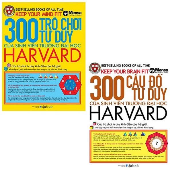 nguyetlinhbook - Combo 2 cuốn : 300 Trò Chơi Tư Duy và 300 Câu Đố Tư Duy Của Sinh Viên Trường Đại Học Harvard