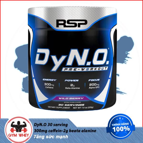 [Lấy mã giảm thêm 30%]Tăng Sức Mạnh  DyNO Pre Workout - RSP - 30ser