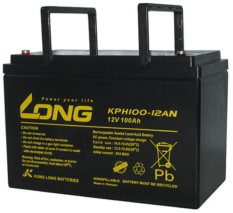 Bảng giá Ắc Quy LONG 12V-100Ah – WPL100-12RN cho UPS, Inverter Phong Vũ
