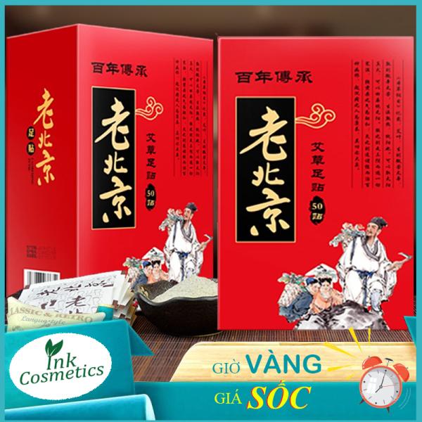 Miếng Dán Ngải Cứu Thải Độc Chân Lão Bắc Kinh (Lao Beijing) Thải Độc Tố Qua Gan Bàn Chân Xoa Dịu Cơn Đau Nhức Xương Khớp