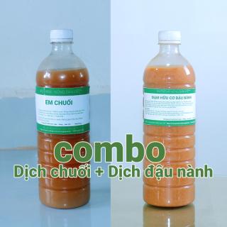 Combo 1 lít dịch chuối + 1 lít dịch đậu nành nguyên chất đậm đặc dùng bón cho rau hoa thumbnail