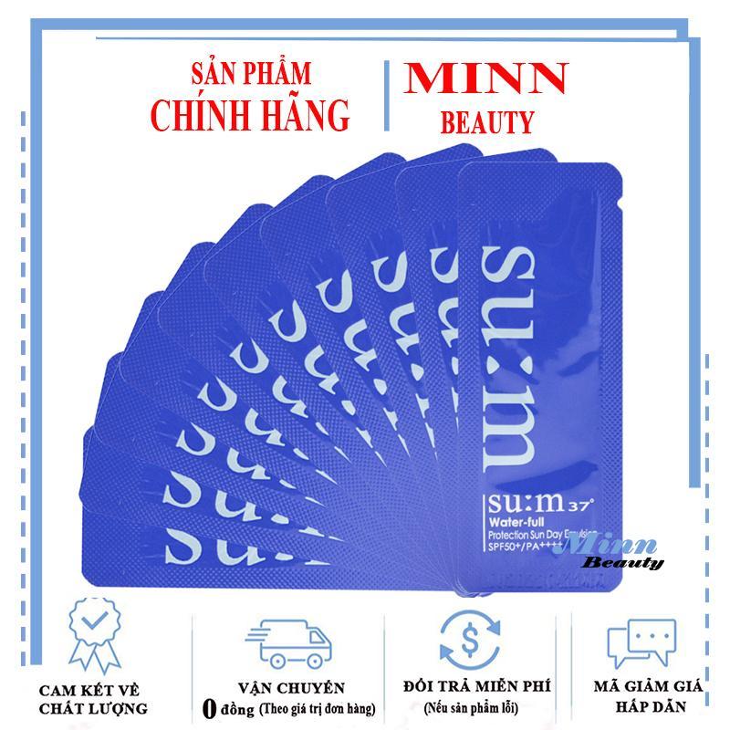 Combo 10 Sample Kem Chống Nắng Su:m37 Water-full Protection Sun Day Emulsion Spf50/PA++++1mlx10 Giá Tốt Không Nên Bỏ Qua