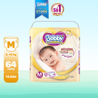 Tã Bỉm dán cao cấp siêu mềm Bobby Extra Soft Dry M-64 miếng (6 - 10kg) thumbnail