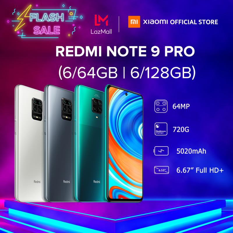 [XIAOMI OFFICIAL] Điện thoại Xiaomi Redmi Note 9 PRO 6GB/64GB | 6GB/128GB - Màn hình 6.67 FULL HD+, Snapdragon 720G 8 nhân, Camera 64 MP, Camera trước 16MP góc siêu rộng, pin 5020 mAh sạc nhanh 30W - BH Chính hãng 18 tháng
