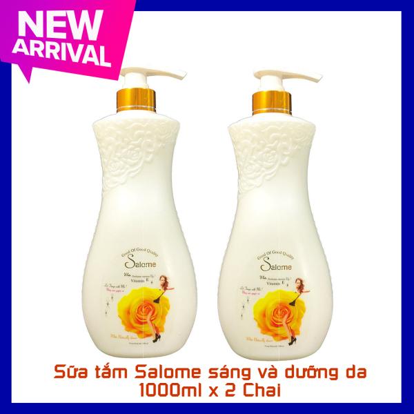 Combo 2 chai sữa tắm Salome sáng và dưỡng da hương Enchanteur 1000ml x 2 chai Date 2023