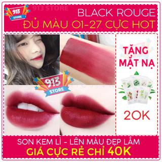 Son kem blackrouge A6,A06,A12,A04,A01,A11,A15,A17,A21,A22,A23,A26,A27 - Bảng màu, review son Blackrouge, Black rouge , Blackground - Son lỏng black rouge - Son nước Blackrouge - son rẻ, son môi đẹp - Son môi hàn quốc thumbnail