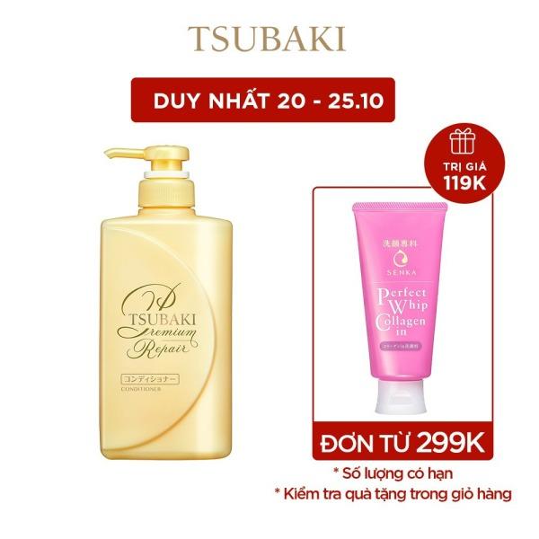 [VOUCHER MOMO 45K] Dầu xả phục hồi ngăn rụng tóc Tsubaki premium repair conditioner 490ml